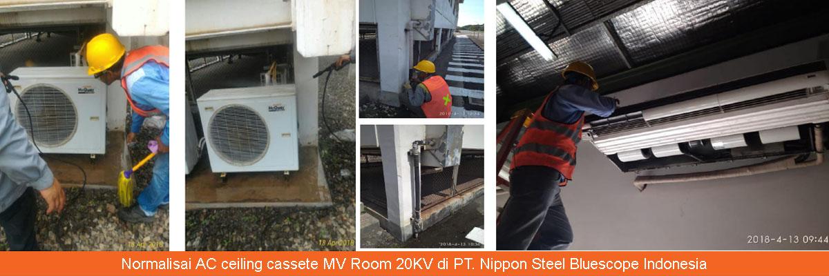 Normalisai AC ceiling cassete MV Room 20KV